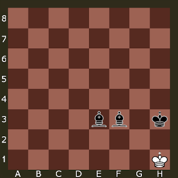 Piece in checkmate.