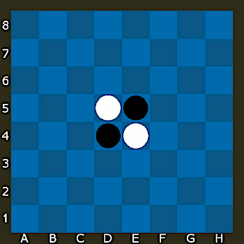 This shows the reversi game.